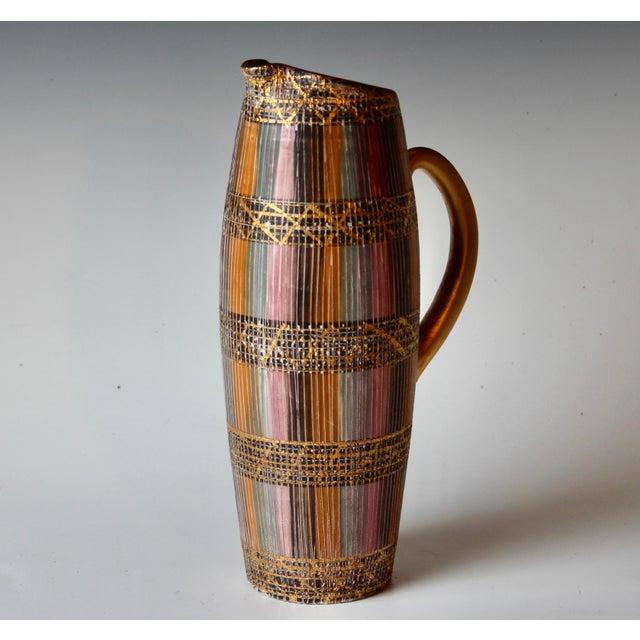 Italian Mid Century Bitossi Raymor Seta Italian Pottery Londi Pitcher For Sale - Image 3 of 13