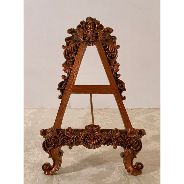 Vintage Hollywood Regency Decorative Table Easel For Sale In Dallas - Image 6 of 6