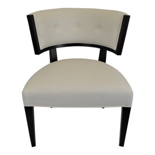 Contemporary Accent Chair With Rounded Back, Made in Italy For Sale