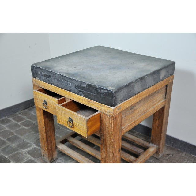 Stone 17th Century Chinese Stone Top Incense Table From the Qing Dynasty For Sale - Image 7 of 13
