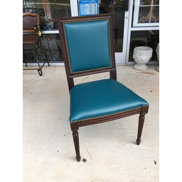 Massoud Regency Style Leather Accent Chair - Image 2 of 10