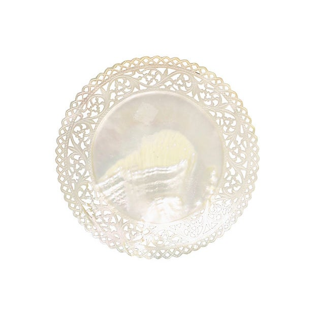 19th Century Antique Mother-Of-Pearl Caviar Plate For Sale - Image 5 of 5