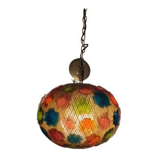 20th Century Modern Multi-Color Acrylic Globe Hanging Light