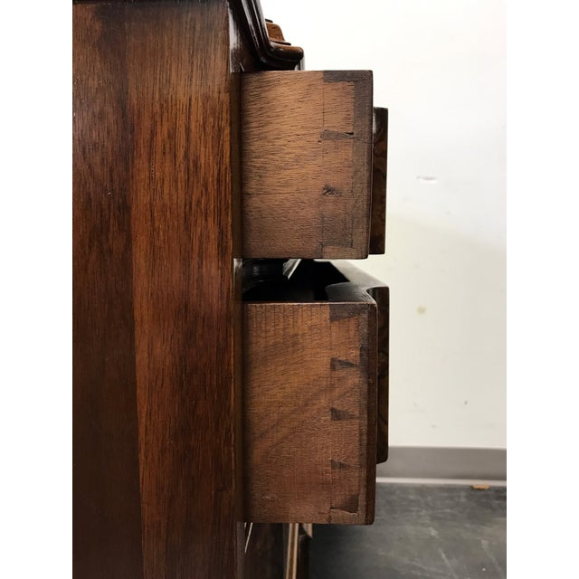 Early 20th Century Burl Walnut Block Front Bachelor Chest of Drawers - Image 9 of 11