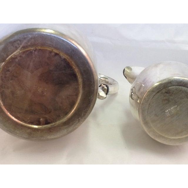 Vintage Coffee Pitcher. Vintage Creamer. Silverplate Oneida Coffee Pitcher & Creamer - Image 6 of 7