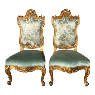 Hilda Flack Louis XIV Style Side Chairs - a Pair For Sale