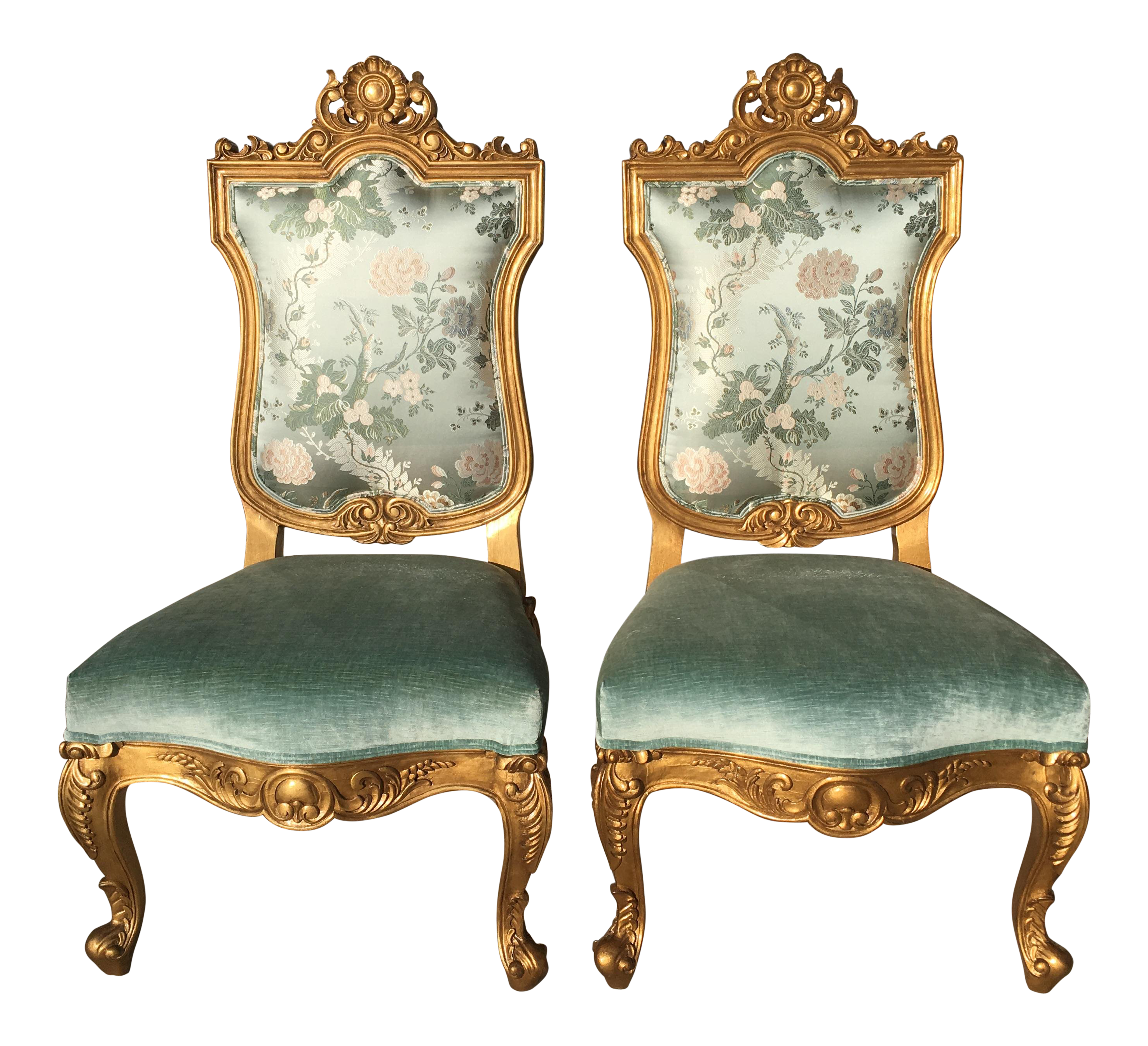 Hilda Flack Louis XIV Style Side Chairs   A Pair For Sale