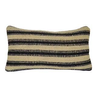 Decorative Kilim Throw Pillow Covers, Striped Wool Ethnic Lumbar Kilim Pillow, Kelim Home Design 12'' X 20'' (30 X 50 Cm) For Sale