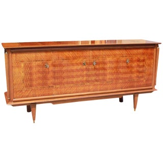 Classic French Art Deco Light Macassar Ebony With Rosewood Sideboard or Buffet