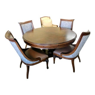 Camapign Thomasville Furniture Ernest Hemingway Rift Valley Dining Set - 5 Pieces For Sale