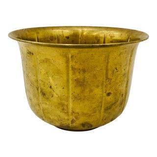 Vintage Brass Cache Pot For Sale