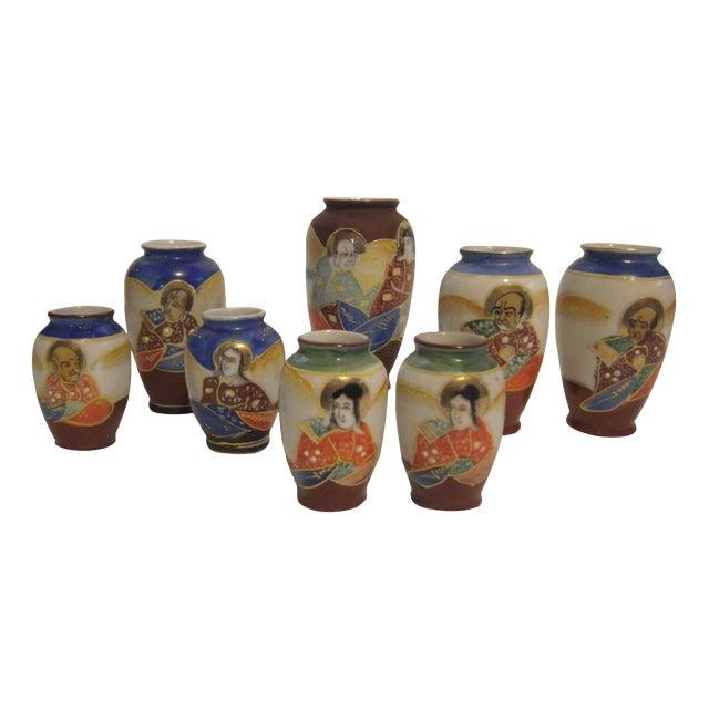Miniature Satsuma Vases - Set of 8 - Image 1 of 11