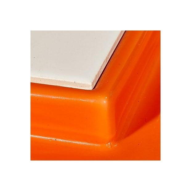 1970s Orange Plastic Serving Plate - Image 3 of 4