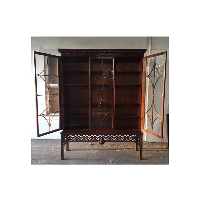 Baker Chinese Chippendale Bookcase - Image 3 of 6