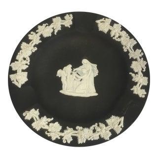 1950s Wedgwood Black White Ashtray For Sale