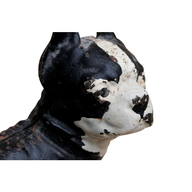 Cast Iron Cast Iron French Bulldog Doorstop For Sale - Image 7 of 8