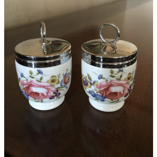 Vintage Royal Worcester Egg Coddlers - Pair - Image 2 of 5