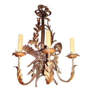 Pair of 19th Century Italian Gilt Wood Sconces For Sale