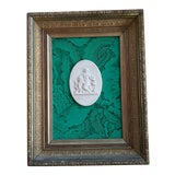 Image of Classic Intaglio Faux Malachite Art For Sale