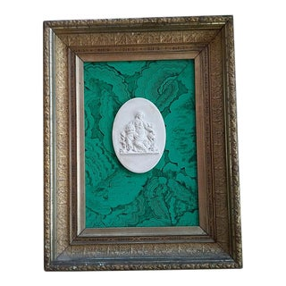 Classic Intaglio Faux Malachite Art For Sale