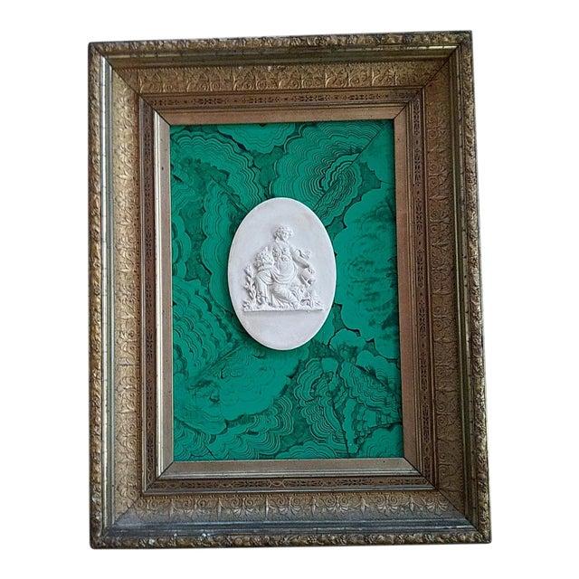 Classic Intaglio Faux Malachite Art For Sale