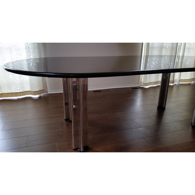 1980's Knoll Racetrack Black Marble Table - Image 7 of 7