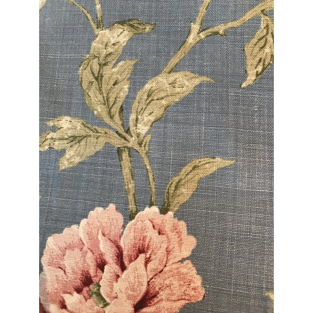 Colefax & Fowler Karina Blue Linen Fabric - 7 3/8 Yards For Sale In Raleigh - Image 6 of 10
