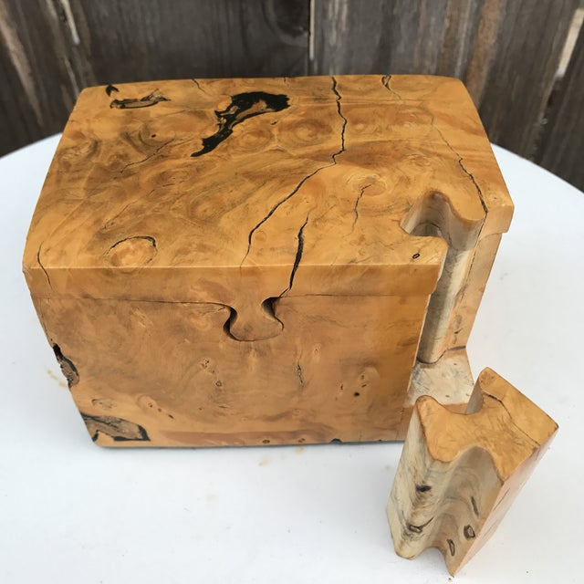 Raw Edge Wood Puzzle Box - Image 6 of 10