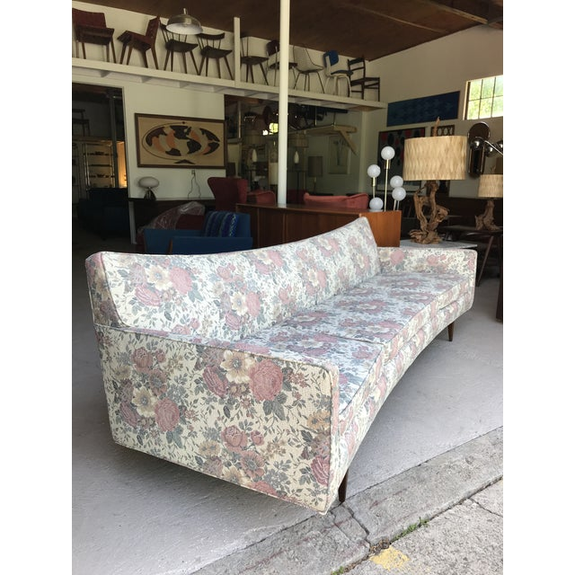 "1960s 97"" Mint Condition Curved Front Sofa Mid Century McCobb Style For Sale - Image 5 of 12"