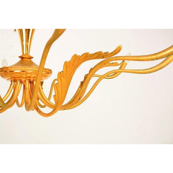1950s Ten-Arm Chandelier After Guglielmo Ulrich For Sale - Image 5 of 6