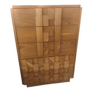 Lane Brutalist Oak Dresser