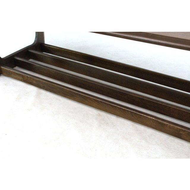 Mid-Century Modern long coffee table. Magazine rack on the bottom.
