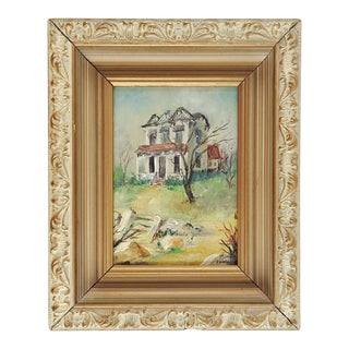 Old House Impressionist Painting For Sale