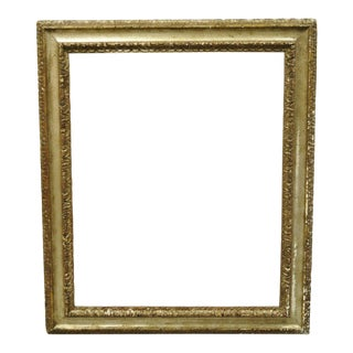 Italian Polychrome Parcel Gilt Carved Wood 51x33 Florentine Painting Frame For Sale