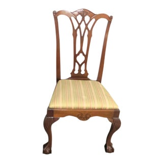 Centennial Chippendale Mahogany Side Chair For Sale