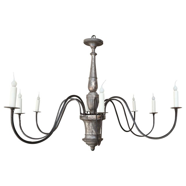 Italian Silver-Gilt Chandelier For Sale - Image 10 of 10