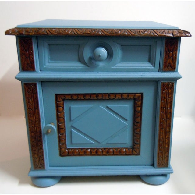 Blue Painted Mid-Century Nightstand - Image 8 of 9