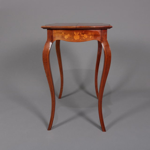 1900s French Marquetry, Mahogany With Satinwood Inlay For Sale - Image 11 of 13