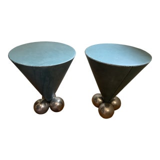 Stanley Jay Friedman for Brueton Bocci Side Tables - A Pair For Sale