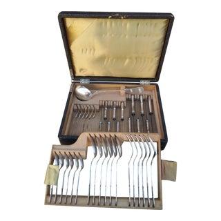 Christofle Silverplate Flatware Set - 37 Piece Set For Sale