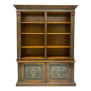 1950s Italian Neo-Classical Style Painted Bookcase For Sale