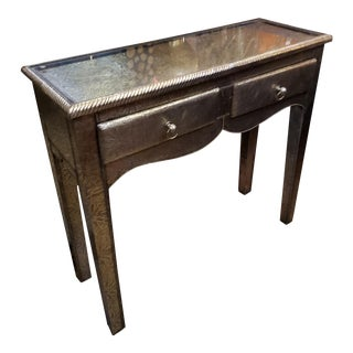 Moroccan Metal Inlay Console Table For Sale