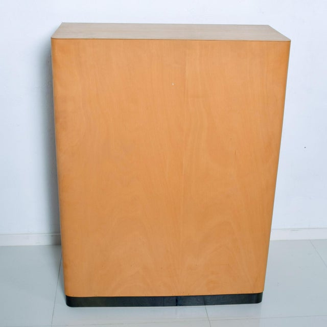 Bauhaus Filing Cabinet Locking Tambour Door by Adolf Maier Germany For Sale - Image 9 of 11