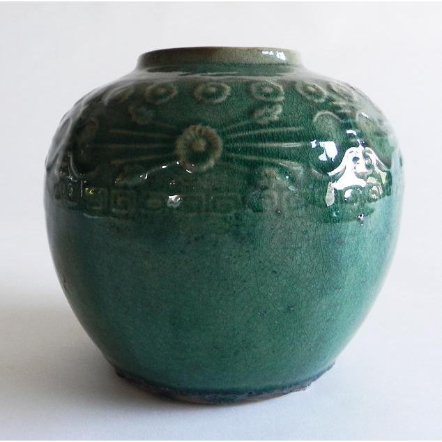 Asian Antique Green Varnish Vase For Sale In Monterey, CA - Image 6 of 6