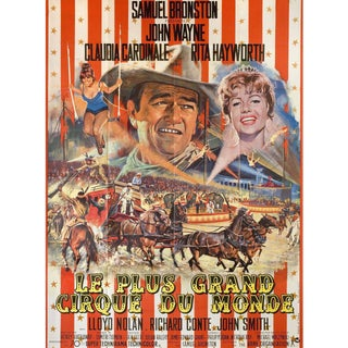 Circus World 1964 French Grande Film Poster For Sale