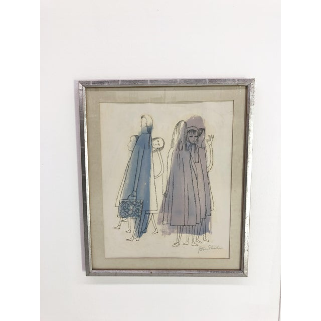 """Ben Shahn """"Two Days of Childhood That Are Still Unexplained"""" Original Signed Lithograph, 1968 For Sale In Boston - Image 6 of 6"""