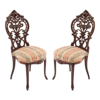 American Victorian Rosewood Side Chairs For Sale