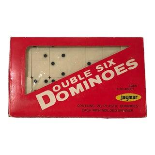 Vintage Mid Century Bakelite Dominos- Set of 28 For Sale