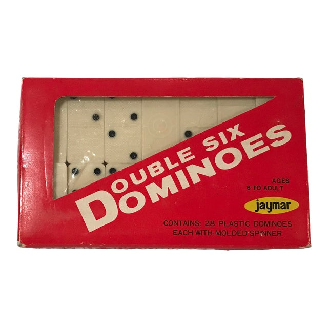 Vintage Mid Century Bakelite Dominos- Set of 28 For Sale