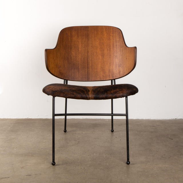 Red Vintage Dining Desk Chair By Ib Kofod Ln Stamped Made In Denmark Danish Modern Mid Century